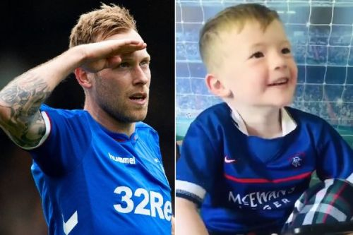 Rangers star Arfield leaves football-daft boy speechless with fundraiser support
