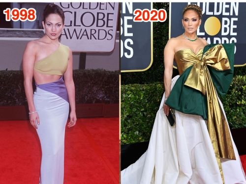 THEN AND NOW: How celebrities' red-carpet fashion has changed since their very first Golden Globes
