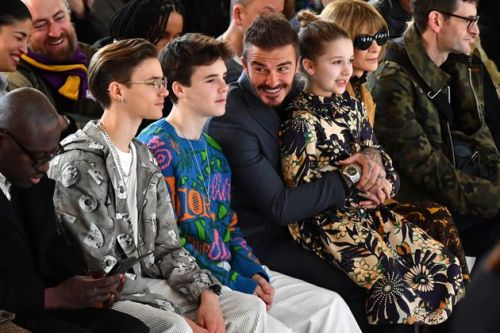 Beckham Brood Put In Adorable Show Of Support At Victoria's London Fashion Show