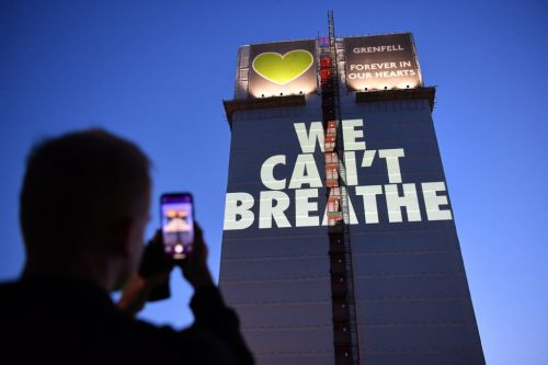 'We can't breathe' projected on Grenfell in stark reminder of victim's final 999 calls