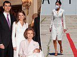 Queen Letizia of Spain recycles a tweed blazer dress she first wore 15 YEARS ago