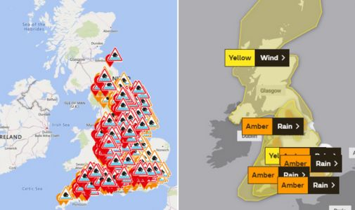 Storm Dennis: The weather warnings in place in your area