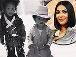 Wild wild Wests! Kim and Kanye's kids Saint and Chicago wear adorable cowboy outfits from Wyoming