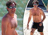 Sacha Baron Cohen is spotted going for a swim at a beach in Sydney