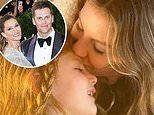 Gisele Bundchen plants a kiss on her daughter after sharing secrets to her marriage to Tom Brady