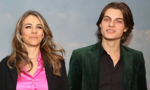 Elizabeth Hurley as you've never seen her before - see son Damian's reaction