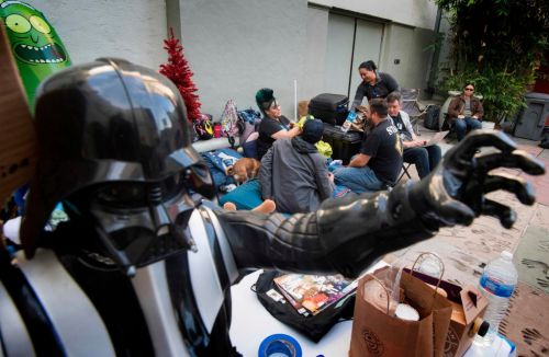 Star Wars fans camp outside iconic Hollywood cinema week before The Rise of Skywalker premiere