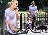 Pregnant Vogue Williams showcases her baby bump in chic striped top