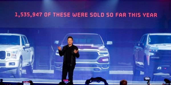 Elon Musk took shots at Ford's F-150 and other automakers during Tesla's Cybertruck reveal
