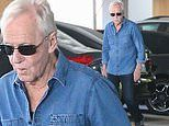 Paul Hogan steps out in double denim while running errands in Santa Monica