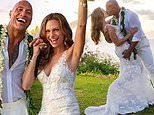 Dwayne 'The Rock' Johnson's bride, Lauren Hashian, wore a $12,540 couture gown at their wedding