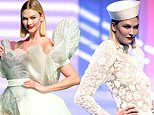 Karlie Kloss is a vision in white during Jean Paul Gaultier's final Paris Haute Couture Fashion Show