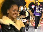 Rihanna looks carefree as she hangs out with A$AP Rocky following split with boyfriend Hassan Jameel