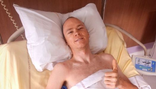 Chris Froome says he's 'lucky to be alive' after horror crash
