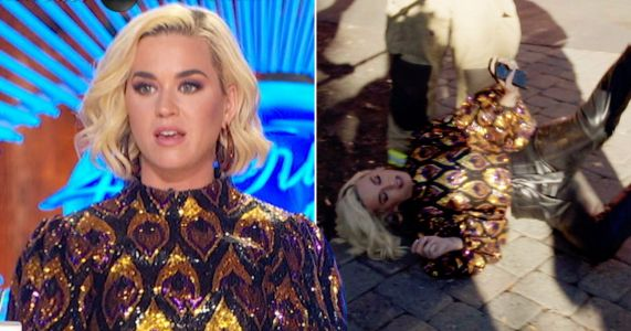 Katy Perry collapses after American Idol 'gas leak' as contestants are evacuated from auditions