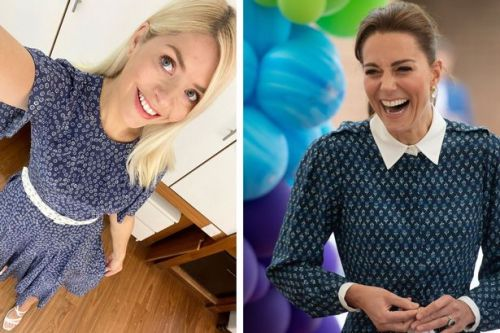 Holly Willoughby looks summer ready in Kate Middleton style floral dress