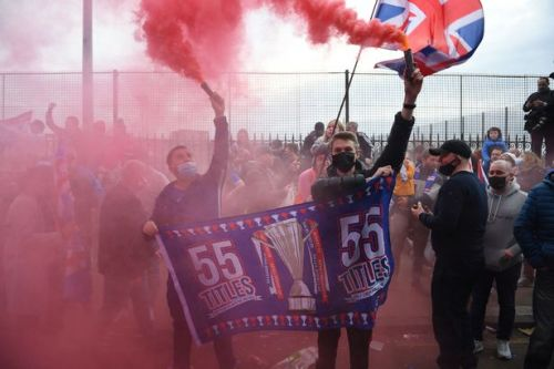 Cops make arrests and hand out fines as Rangers fans gather in Glasgow