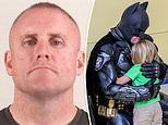 Texas cop who dresses up as super heroes to cheer up kids is arrested on family violence charges