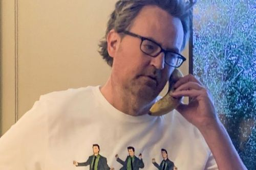 Matthew Perry launches limited edition Friends fashion line for charity