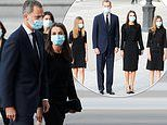 Queen Letizia attends a funeral mass for COVID-19 victims in Madrid