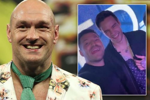 Tommy Fury, Liam Payne and Mark Wright join Tyson Fury in epic party after fight