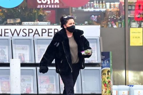Jessie Wallace is far cry from Kat Slater as she grabs petrol station lunch