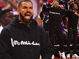 Drake plays the role of fanatical fan as he cheers on his hometown Toronto Raptors at the NBA Finals