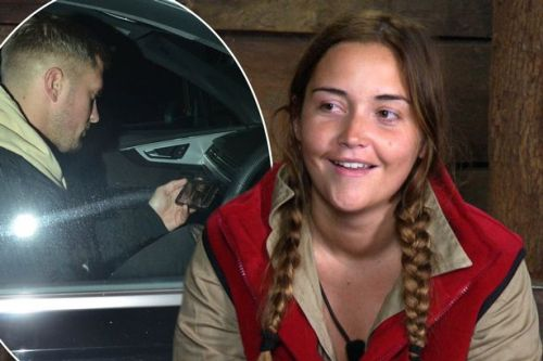 Dan Osborne supports wife Jacqueline Jossa as he watches I'm A Celebrity on his phone in his car