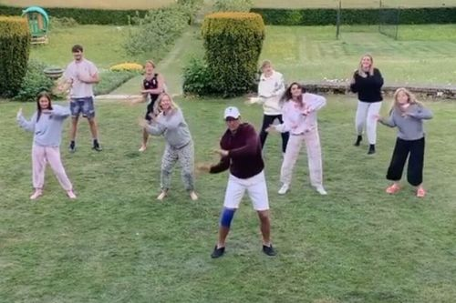 Arsenal legend Tony Adams recreates hilarious Granada training video with family