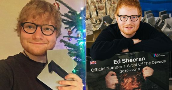 Ed Sheeran named UK's artist of the decade after 79 weeks at number one