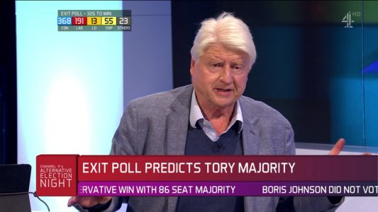 'Proud' Stanley Johnson says Boris will 'rebuild a bridge to Europe' as exit poll predicts landslide win