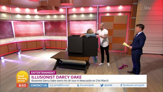 Good Morning Britain fans stunned as Britain's Got Talent magician Darcy Oake makes Kate Garraway disappear live on air