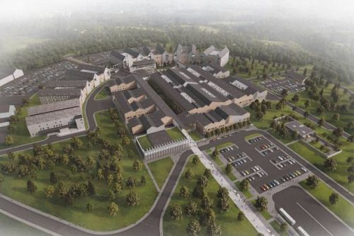 Monklands Hospital: site designs earn praise from politicians