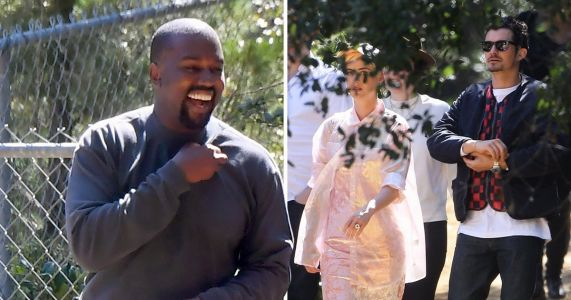 Katy Perry and Orlando Bloom don their Sunday best for Kanye West's church service