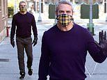Andy Cohen is careful in a mask and gloves as he is seen out for FIRST TIME since COVID-19 recovery