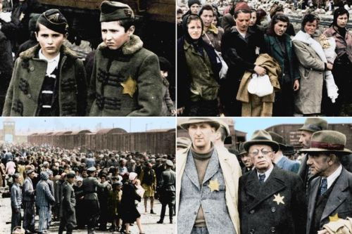 True horrors of Auschwitz laid bare in harrowing colourised photos