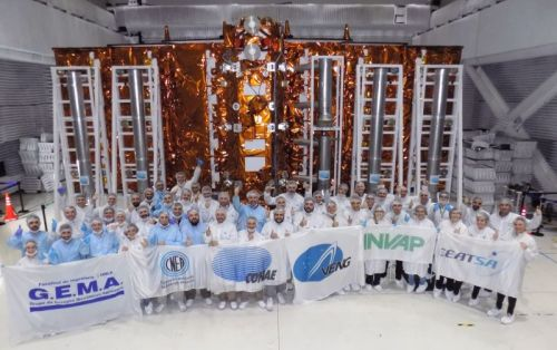 Argentine team returns to Florida to prep radar satellite for late July launch