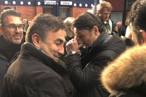 Former Bayern Munich boss Niko Kovac at Goodison Park amid Everton vacancy