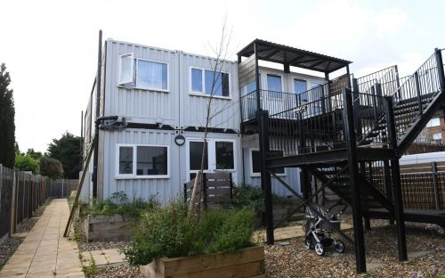 Children are growing up in shipping containers due to lack of council housing, report finds