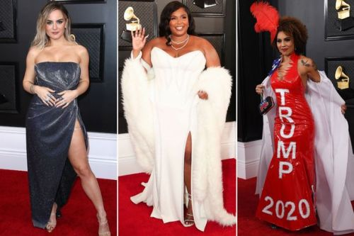 Grammy Awards 2020: Lizzo leads red carpet arrivals in angelic white gown