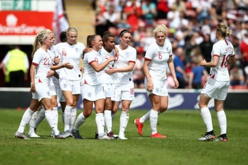 England Women 2-0 Denmark: Nikita Parris and Jill Scott on target in World Cup warm-up