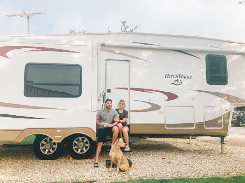 Couple sell house to live in campervan, transforming it into luxury home on wheels for under £4k