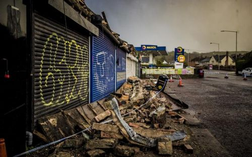 'Miracle no one was hurt' as Storm Dennis damages Dundonald shops