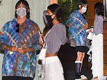 Red Hot Chilli Peppers' Anthony Kiedis sports a foot brace on dinner date with female companion