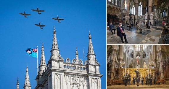 Battle of Britain heroes remembered with touching service and spitfire flyover