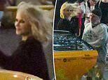 Nicole Kidman battles blustery weather as she films Nine Perfect Strangers in Sydney's Barangaroo