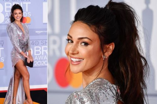 BRIT Awards 2020: Michelle Keegan looks stunning as she sparkles in silver sequin dress on the red carpet