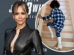 Halle Berry tells fans to 'have a laugh' after receiving criticism for letting son walk in heel