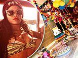 Rihanna rings in her 32nd birthday with her friends and family in Mexico