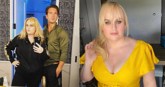 Rebel Wilson and boyfriend Jacob Busch give us their best 'blue steel' and it's everything